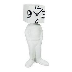 Rubix Cube Table Clock, White