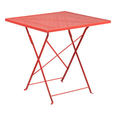 Marlo Square Indoor/Outdoor Folding Patio Table, Coral
