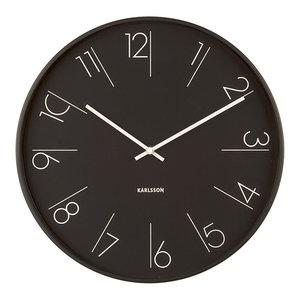 Karlsson Elegant Numbers Clock, Black