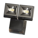 2 x 10W LED (PIR) Presence Detecting Floodlight - Black