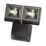 2 x 10W LED (PIR) Presence Detecting Floodlight - Black