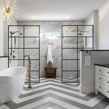 Contemporary Craftsman Master Bath