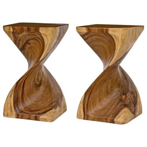 Surin Twist Tables, Natural, Set of 2