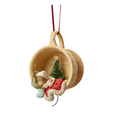 American Glassware - Enesco Heart of Christmas Mouse Sleeping in Cup Ornament - Christmas Ornaments