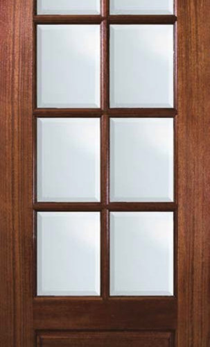 slab house patio single door 96 mahogany 1 panel 8 lite tdl glass patio doors - Patio Single Door