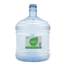 H8O Polycarbonate 2 Gallon Water Bottle With Handle and 48mm Cap