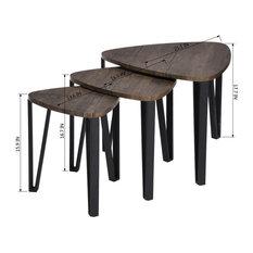 anzy eye catching nesting corner table set of 3 side tables and end tables - Corner Side Tables