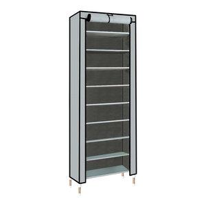 Modern Stylish Storage Organizer, Waterproof Fabric With 10 Inner Tiers, Grey