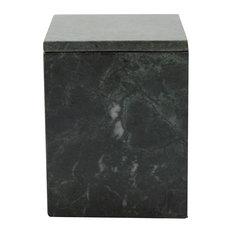 Oblong Marble Box, Short, Green