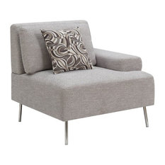 Furniture of America Sabi Contemporary Modular Left Arm Chair in Gray