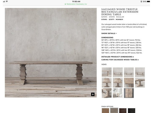 RH Salvaged Wood Trestle Dining Table In Grey Finish - Salvaged wood trestle rectangular extension dining table