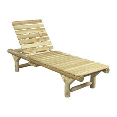 Rustic Cedar   Log Lounge Chair   Outdoor Chaise Lounges