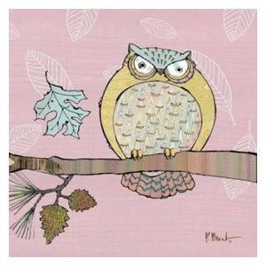 BIRD ART PRINT Pastel Owls Set Paul Brent