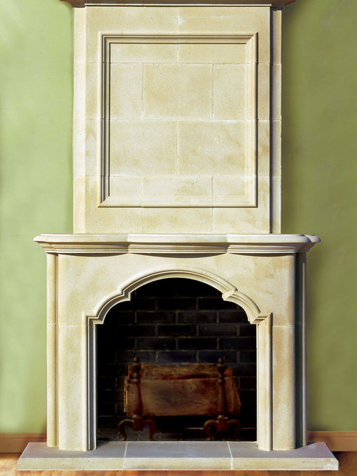 Cast stone fireplace mantels for Cast stone fireplace mantels