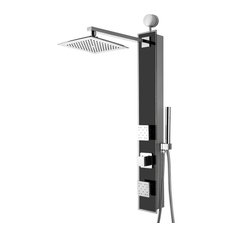 """AKDY Home Improvement - AKDY 35"""" Stainless Steel Shower Panel With Shower Head and Body Spray - Shower Panels and Columns"""