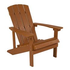 Charlestown All-Weather Adirondack Chair, Faux Wood, Teak