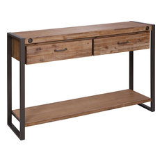 Armour Square Two-Drawer Console Table