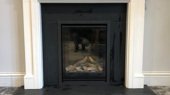 False Chimney Breast with Bellfire Gas Fire and Limestone Surround