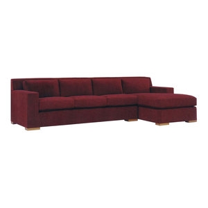 Corvo Sectional: Chaise And Adjacent 3 Seater In Avanti Cabernet By Lazar  Industries Looking ...