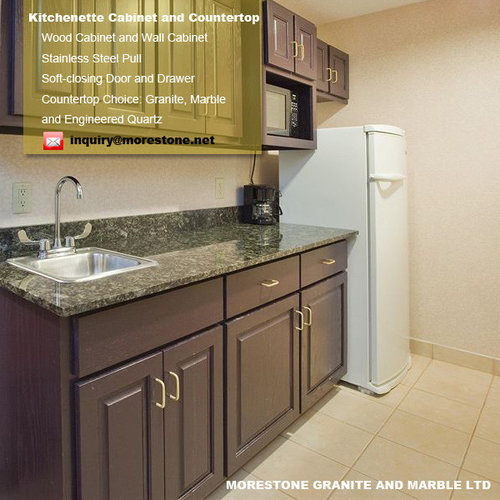 Hotel Suite Kitchenette Cabinet With Granite Verde