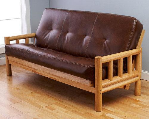 lodge  plete full size futon   futons wood futons  rh   houzz