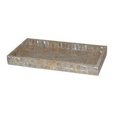 Capris Mother of Pearl Rectangular Tray