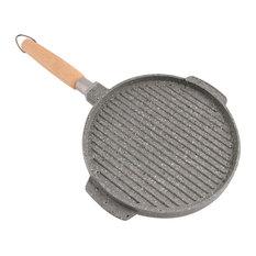 Rider Round Grill Pan, Black Speckled, 36 cm