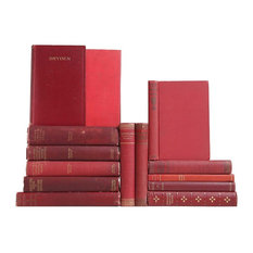 Red Distressed Poetry Classics, Set of 14