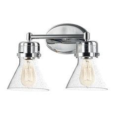 Maxim Lighting Seafarer 2-Light Bath Vanity, Polished Chrome