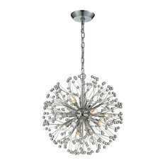 elk group starburst 9light chandelier polished chrome and crystal chandeliers - Starburst Chandelier