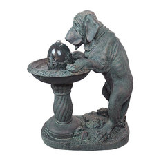 Dog's Refreshing Drink Sculptural Fountain