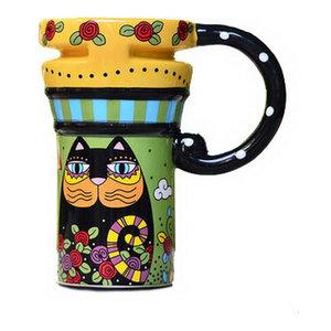 Trademark Camera Lens Coffee Mug with Lid by Whetstone Black 82-260FQ