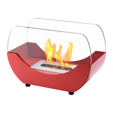 Liberty Red Tabletop Ventless Ethanol Fireplace