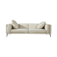 Basil Modern Contemporary Sofa, White Peacoat, Material: Cashmere