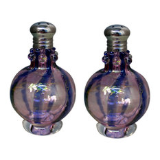 Festival Swirl Purple Salt and Pepper Shaker Set