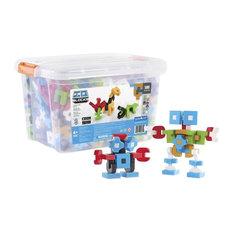 Guidecraft IO Blocks 500 Piece Education Set with  Storage Box in White
