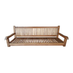 Teak Wood Elzas Triple Porch Swing made from A-Grade Teak Wood
