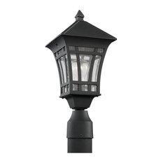 Sea Gull Lighting 82131 Herrington 1 Light Outdoor Lantern Post - Black