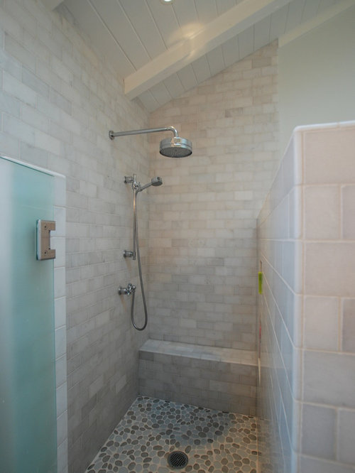 Small shower stall houzz for Spiral shower stall