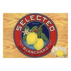 """""""Selected Brand, Santa Paula, CA, Citrus Crate Label"""" Print, 16""""x24"""""""