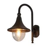 Daphne 1-Light Outdoor Wall Light, Brown