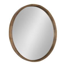 a16c754b5a27 Hutton Round Decorative Wood Frame Wall Mirror, 30