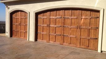 Custom Wood Garage Door Installation