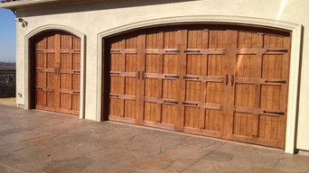 Custom Wood Garage Door Installation