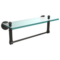 "Waverly Place 16""  Glass Vanity Shelf  With Integrated Towel Bar"