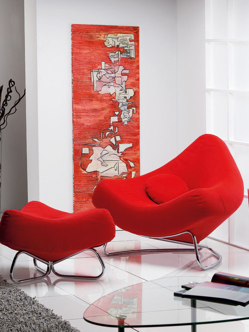 Chili Armchair With Pouf By ROM, Belgium   Rocking Chairs