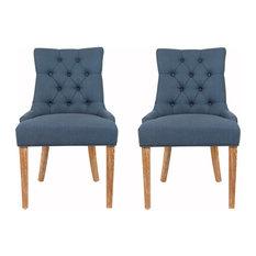 Safavieh Elise Dining Chairs, Set of 2, Steel Blue