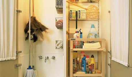 Trucos e ideas para guardar los útiles de limpieza en la cocina