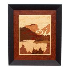 """""""Hallett Peak"""" With Java Frame, 2"""" Frame, Sapele Pomelle Border"""