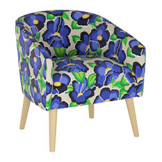 Pfifer Deco Chair In Carla Floral Blue